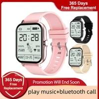 2021 smart watch women bluetooth call ip67 waterproof sport smartwatch heart rate blood pressure fitness bracelet men for xiaomi