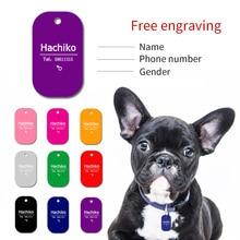 YVYOO collier pour chien chat de compagnie   Gravure gratuite, accessoires de décoration didentification des animaux de compagnie, étiquettes pour chiens, colliers, étiquette personnalisée en aluminium