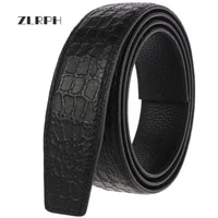 zlrph new style famous brand belt men top quality genuine luxury leather belts for menstrap male automatic buckle belt black