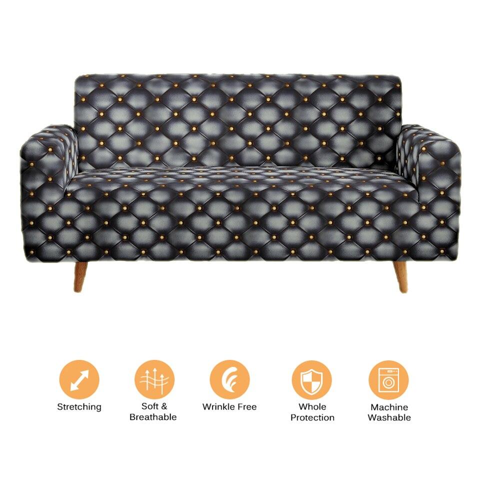 الحديث العالمي غطاء أريكة غطاء مرن ثلاثية الأبعاد مسند الذراع كرسي صالة ماجيك لمط الأريكة يغطي الموسعة 1 2 3 4 أماكن مقعد