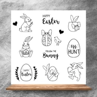 zhuoang easter decoration clear stampssilicone transparent seals for diy scrapbooking photo album clear stamps