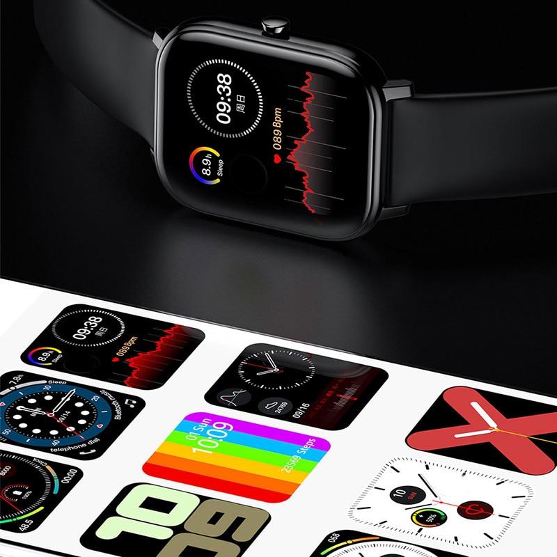 2021 Smart Watch Women Men Ip68 Waterproof Sport Fitness Tracker Watches Sleep Heart Rate Blood Pressure Monitor SmartWatch