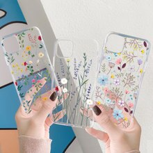 Funda transparente con flores para Samsung Galaxy, Funda de TPU Ultra transparente para Samsung Galaxy A32, A31, A50, A51, A70, A71, A52, A72, A21S, A12, A10, A40, S20 FE, S8, S9, S10, S21 Plus