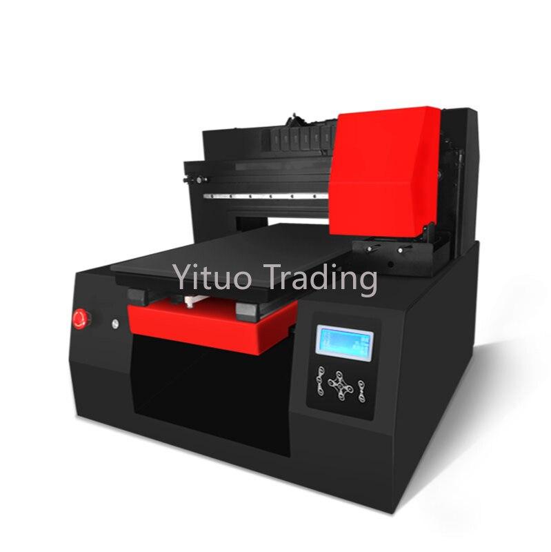 RF-MJ1 máquina de impressão a cores de couro do metal do pvc do cartucho de tinta rachado da impressão automática digital 3d comercial da impressora do leito