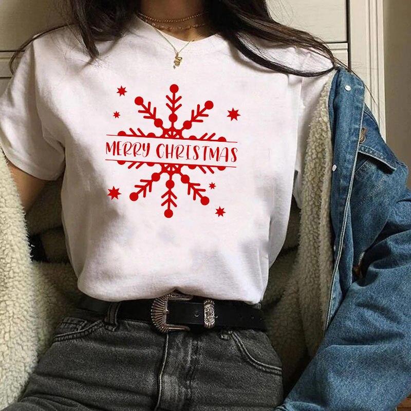 Camiseta con eslogan de Feliz Navidad para hombre y mujer, Camisa de...