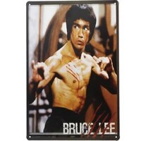 1 pc bruce lee martial art karate movie film tin plate sign wall man cave decoration man cave art poster metal vintage home
