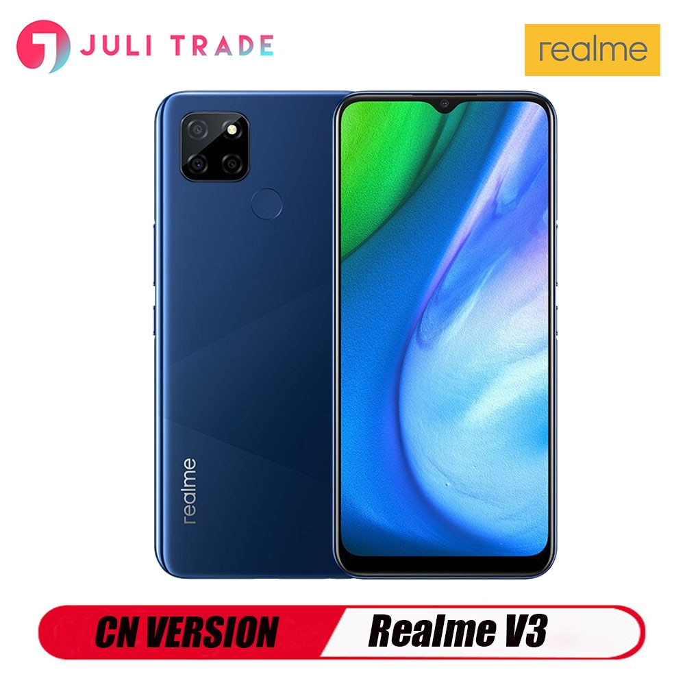 Original OPPO Realme V3 5G Smart mobile phone 8G Android 1600x720 Fingerprint Fast charging 18W CN version