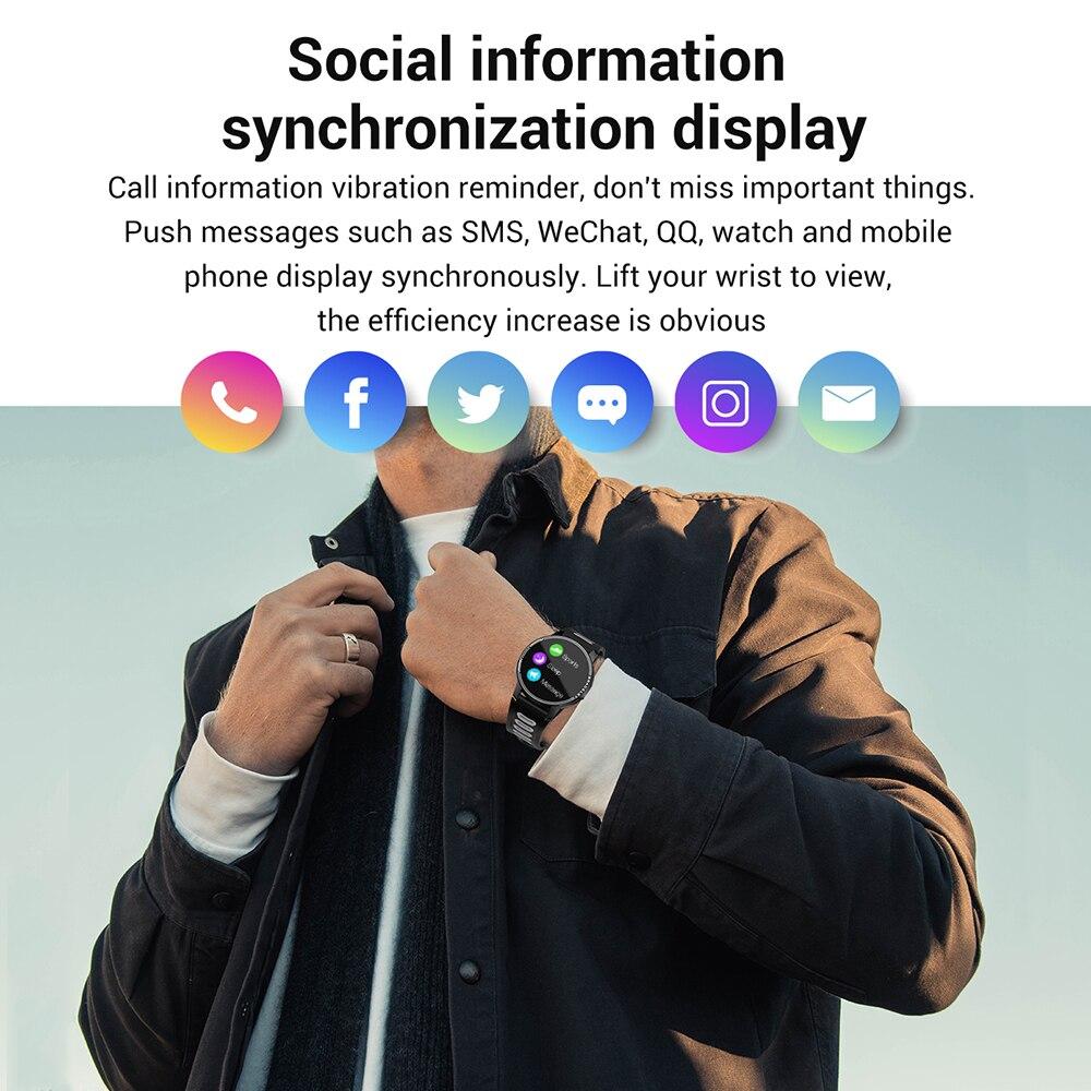 Новинка 2020, умные часы L6, IP68, водонепроницаемые, спортивные, для мужчин и женщин, Bluetooth, умные часы, фитнес-трекер, пульсометр для Android IOS-3