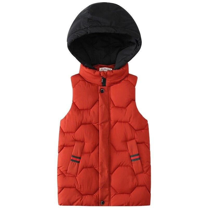 Siddons niños Chaleco de invierno con contraste de color gorra de cuello alto chaleco largo para niños hecho en material de algodón suave muy cálido