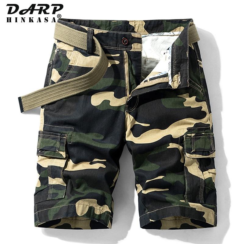 Летние камуфляжные шорты-карго для мужчин, армейские зеленые джоггеры, тактические мужские шорты-карго в стиле милитари, хлопковые повседн...