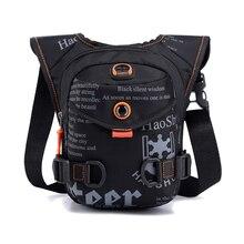 Men Waterproof Nylon Drop Leg Bags Thigh Hip Bum Belt Bag Waist Fanny Pack Boys Travel Riding Motorc