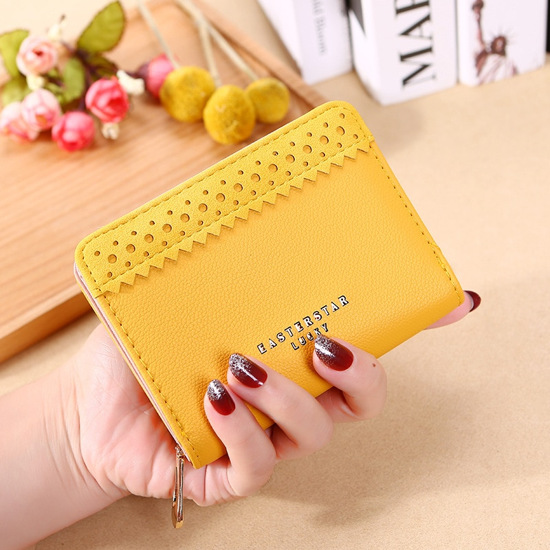 Female New Korean Version Short Wallet Pure Color Simple Small Soft Leather Women Purse Multi-card Site Zipper Lady Coin Pocket недорого