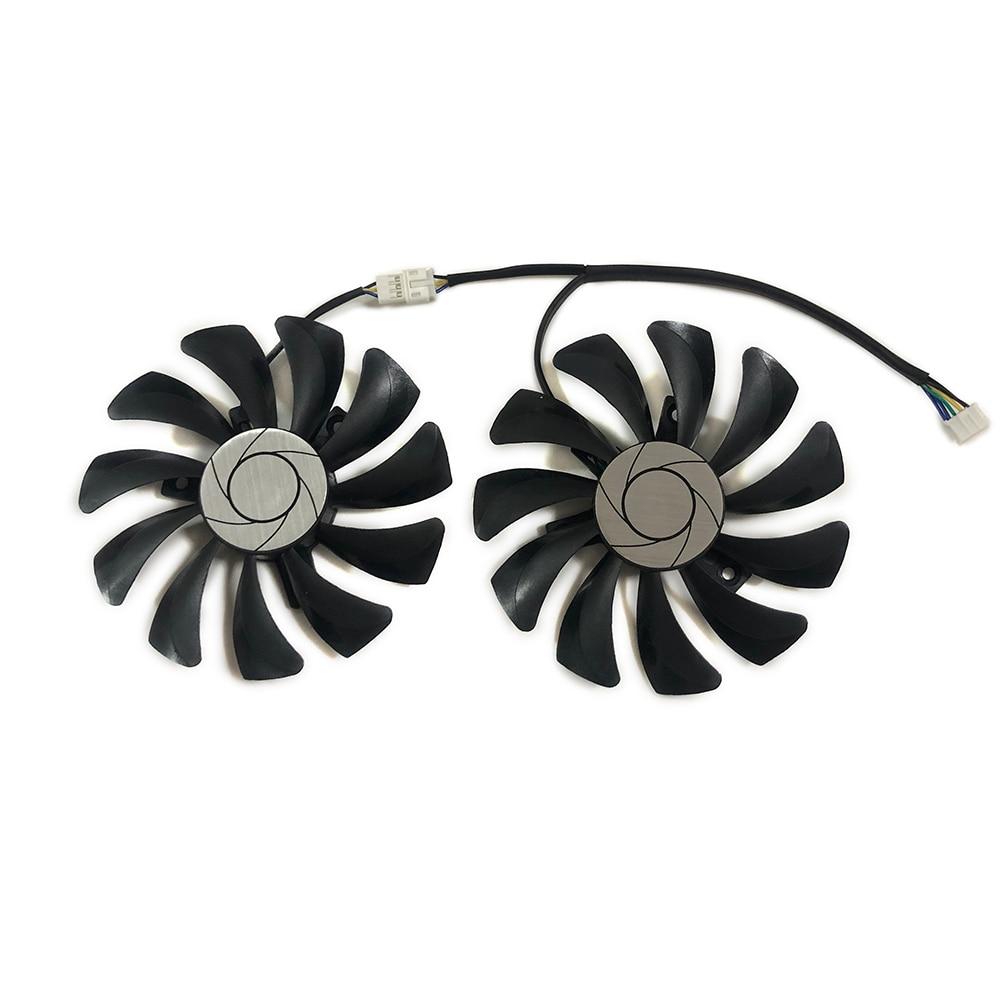 2 шт./компл. HA9010H 12 SF-Z вентилятор видеокарты GPU 87 мм (90 мм) HA9010H12SF-Z VGA кулер для MSI GTX1060 MINING Graphics