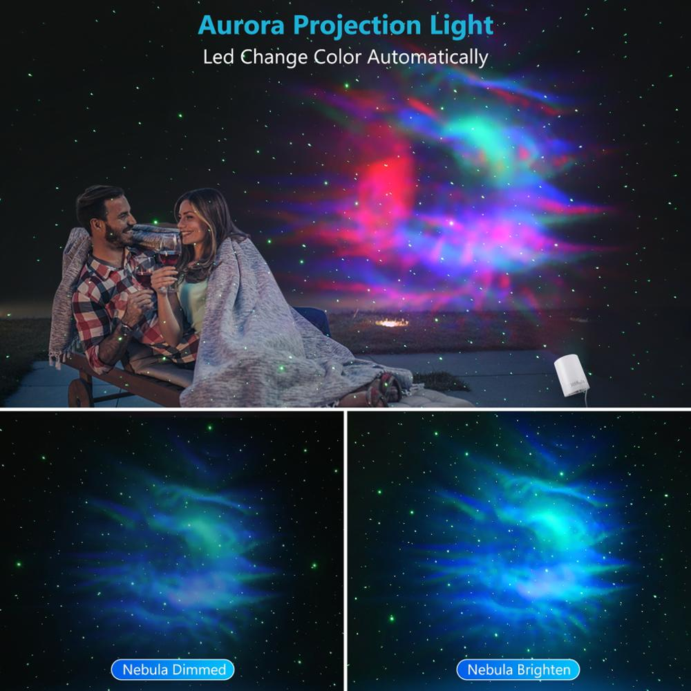 LED water pattern star sky projection lamp USB remote control sound control lamp star laser stage lamp enlarge