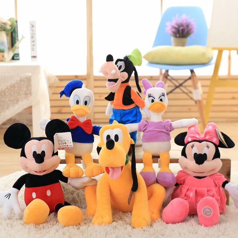 30cm Disney character Mickey Minnie Donald Duck Goofy plush toy high quality plush doll room decoration kids birthday gift