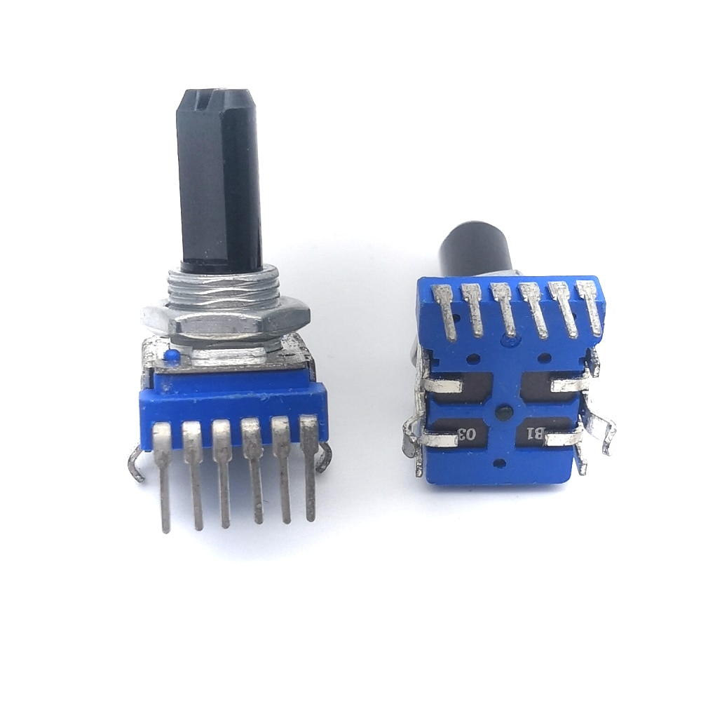 6 - Pin Dual Channel Audio Mixer Potentiometer 103 B10K B50K RK1114GH 10K 50K 161 horizontal double potentiometer b10k