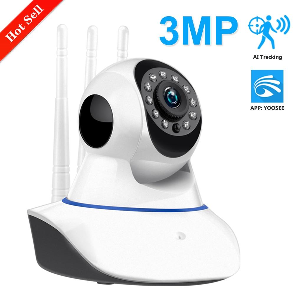 Yoosee 1080p 3mp wifi câmera de segurança em casa hd pan tilt câmera ip sem fio áudio em dois sentidos monitor do bebê cctv ip cam 64g sd p2p