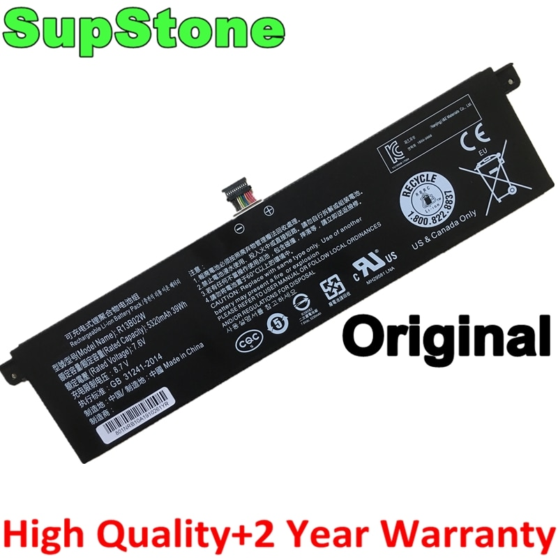 "SupStone Genuine Original R13B01W R13B02W laptop battery for Xiaomi Mi Air 13.3"" Series Tablet PC 161301-01 New battery"