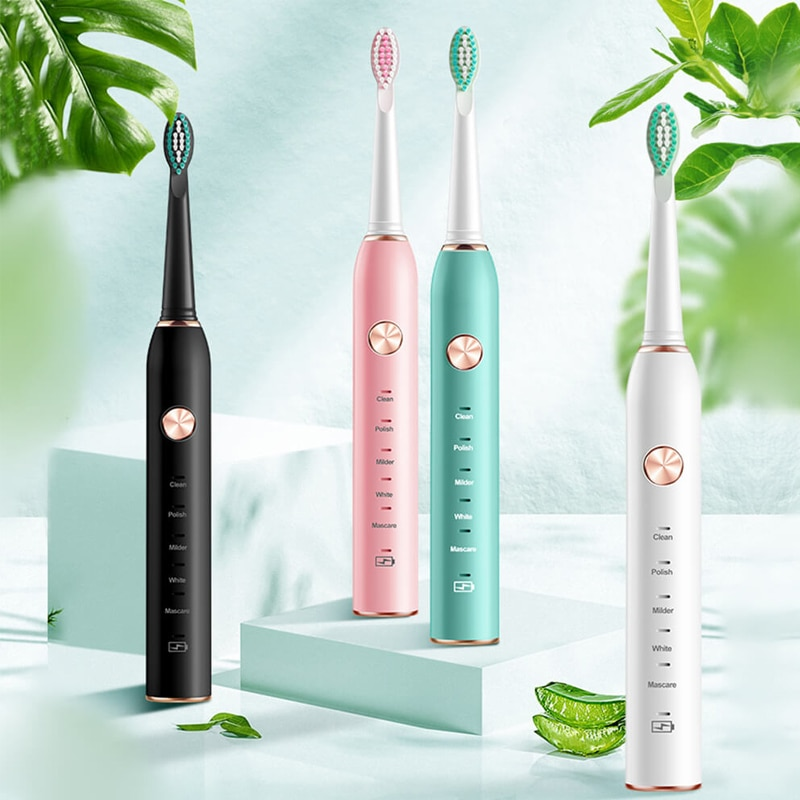Timer Sonic Electric Toothbrush USB Rechargeable 5 Modes Ultrasonic Automatic Bush Waterproof Dental Brush Teeth Whitening