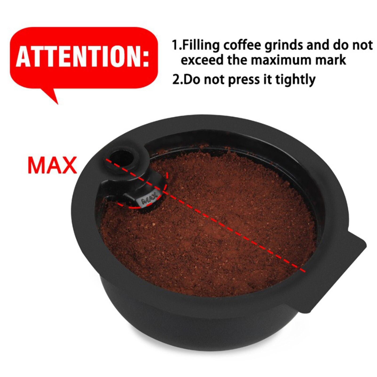 2 قطعة قابلة لإعادة الاستخدام أكواب القهوة كبسولة لبوش تاسيمو سعة 180 مللي