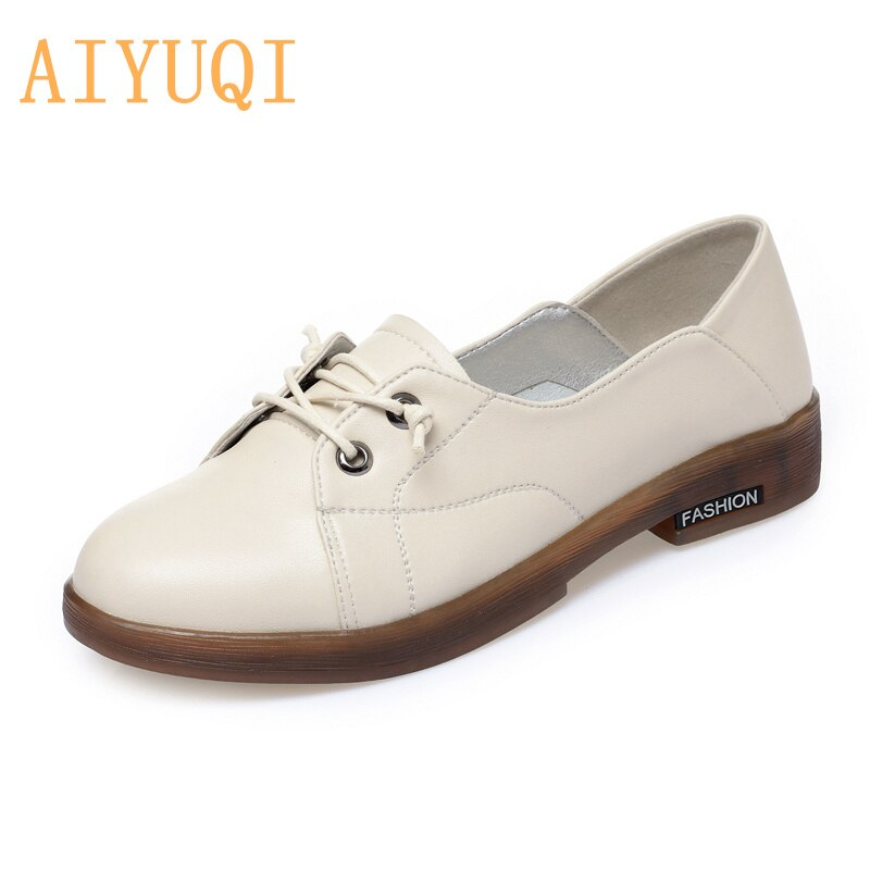 AIYUQI Women Shoes Low-heel Spring Round Head Non-slip Casual Mother Loafers Female Large Size 41 42