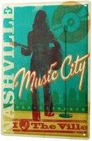 Depuis 2004 etain signe plaque de metal signe decoratif decor a la maison Plaques deco cinema Nashville musique plaque de metal 8X12