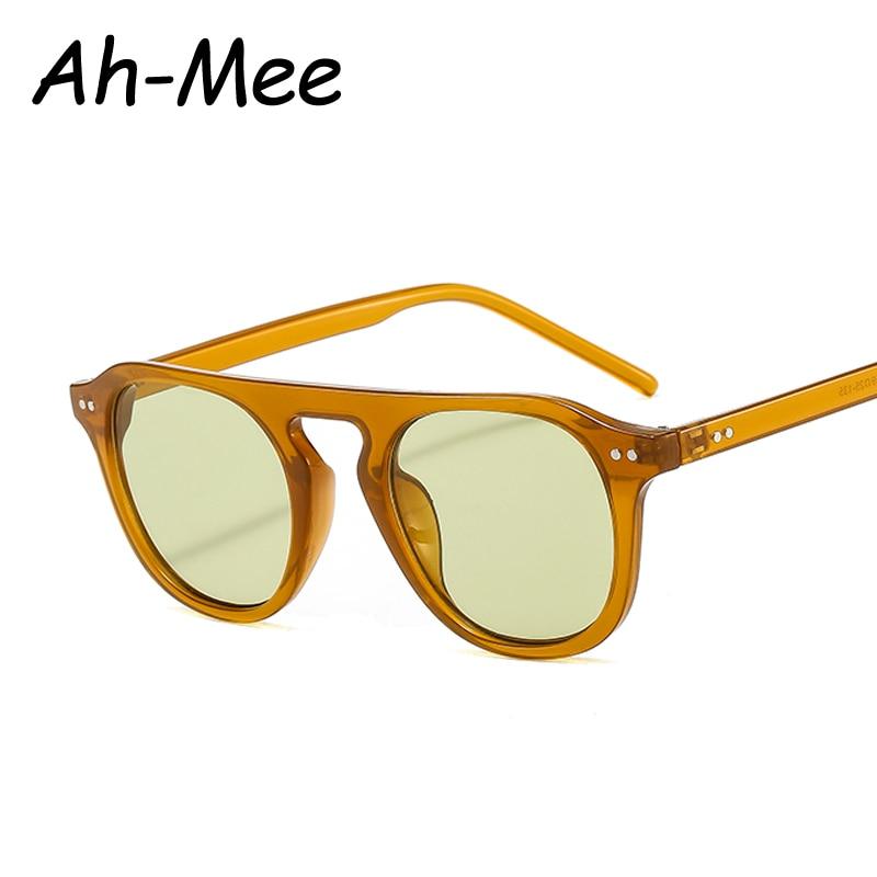 Модные Овальные Солнцезащитные очки для мужчин и женщин, винтажные брендовые дизайнерские солнцезащитные очки в стиле панк, мужские очки у...