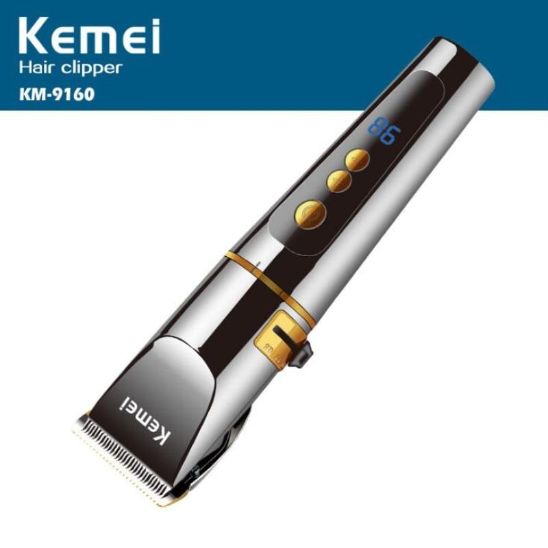 المهنية مقص الشعر محل حلاقة الشعر المتقلب قابلة للشحن الكهربائية مقص الشعر ماكينة حلاقة الحلاقة صالون حلاقة KM-9160