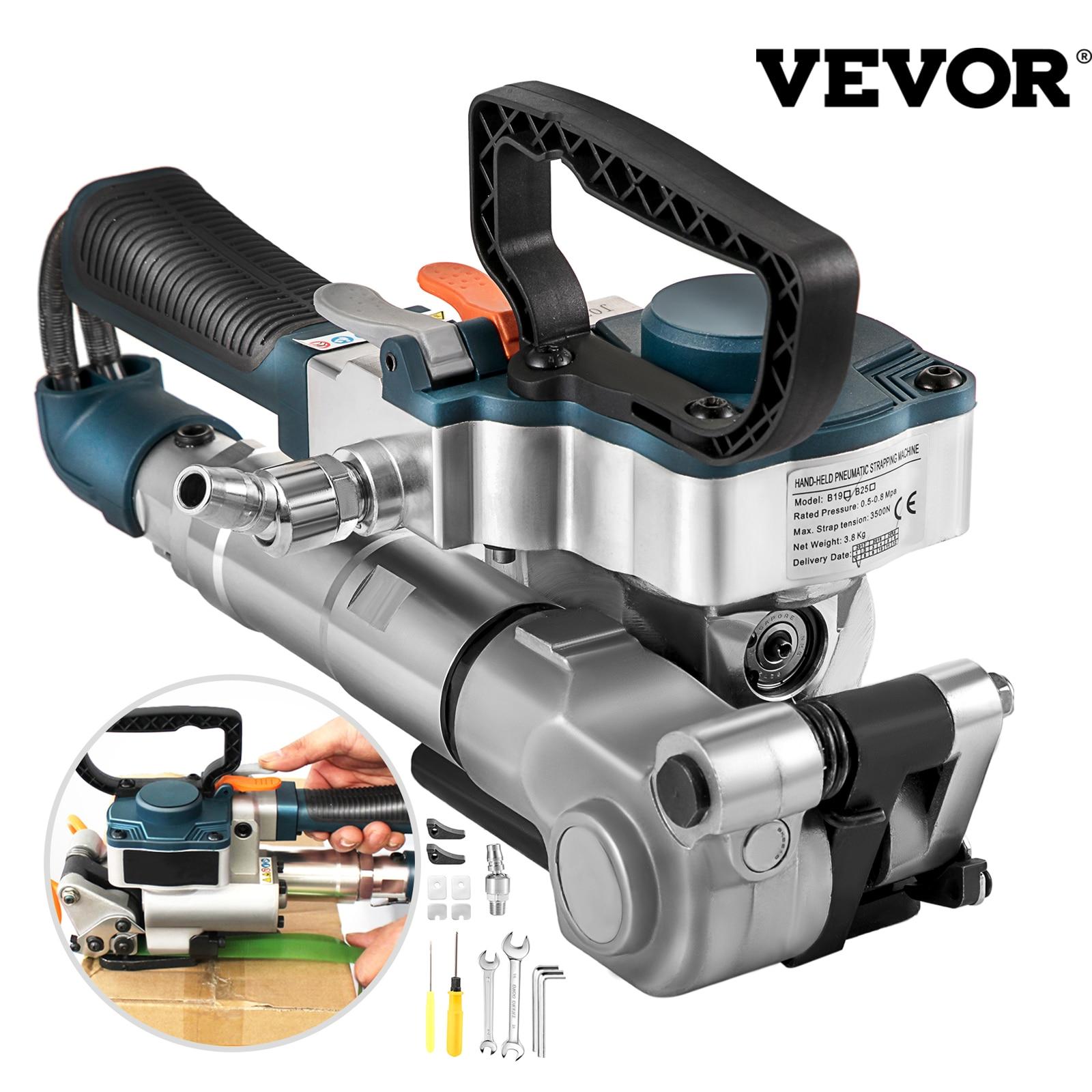 VEVOR B19 يده هوائي الربط آلة 3500N ماكس التوتر اليد التعبئة آلة التفاف أدوات ل 13-19 مللي متر PP فست بحزام للحيوانات الأليفة