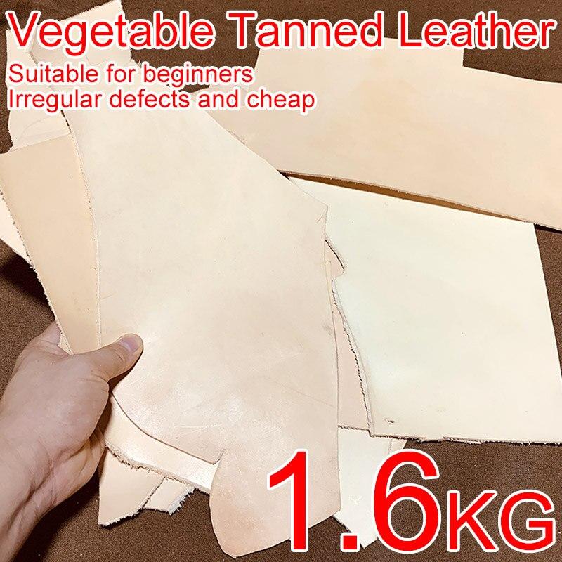 1600g (3,53 lb) Geeignet für Anfänger, Günstige Defekt Unregelmäßigen, echt Gemüse Gegerbtem Leder Material Praxis Liebhaber Rindsleder DIY