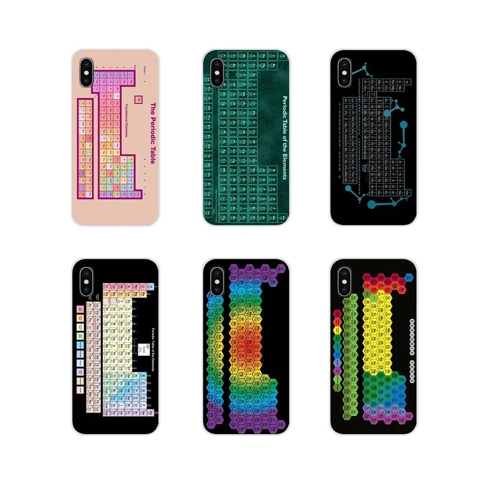 Fundas de teléfono para Huawei Mate Honor 5X 6X 7 7A 7C 8 9 10 8C 8X 20 30 Lite Pro, fundas de la carcasa del teléfono, tabla periódica de los elementos