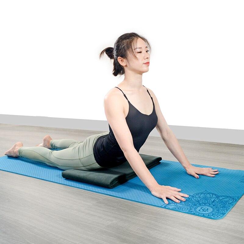 Manta antideslizante para Yoga, toalla, Alfombra de Fitness, meditación, esterilla de Yoga,...