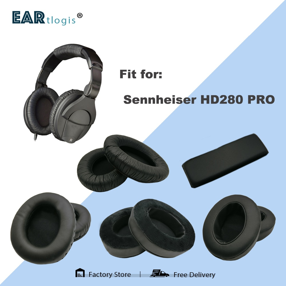 Replacement Ear Pads for Sennheiser HD280 PRO HD-280 HD 280 Headset Parts Leather Cushion Velvet Earmuff Earphone Sleeve Cover