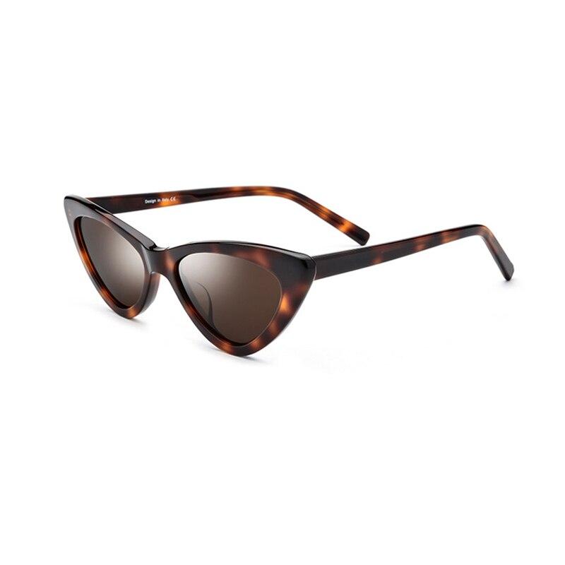 Cat eye sunglasses Polarized Women Sunlgasses Black/White/Brown/Dark Red 4 Colors