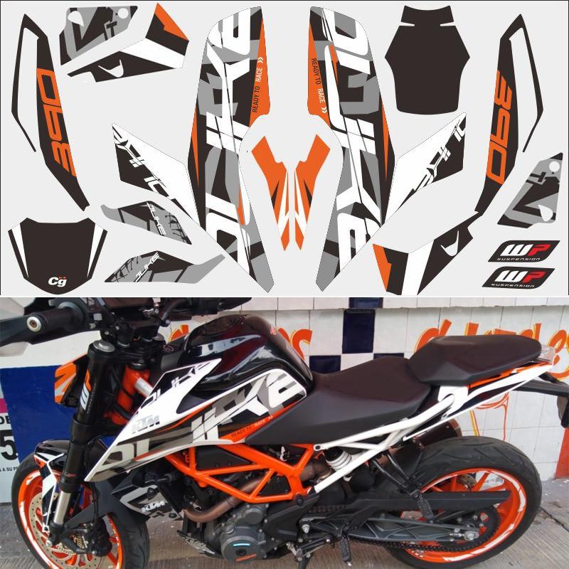 Orange Missing version DUKE  390 motorcycle car sticker 3M thick street car modified decal For KTM DUKE 2017-2018 year