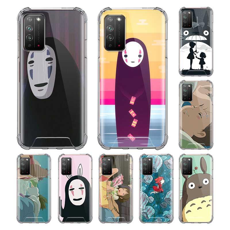 Totoro Chihiro Ghibli Miyazak Capa para Huawei Honor 20i 10 Lite 9S 9C 20 8S 9X Y9 Y9s Y8s Y8p Y7 2019 Airbag Anti caída Coque Sac