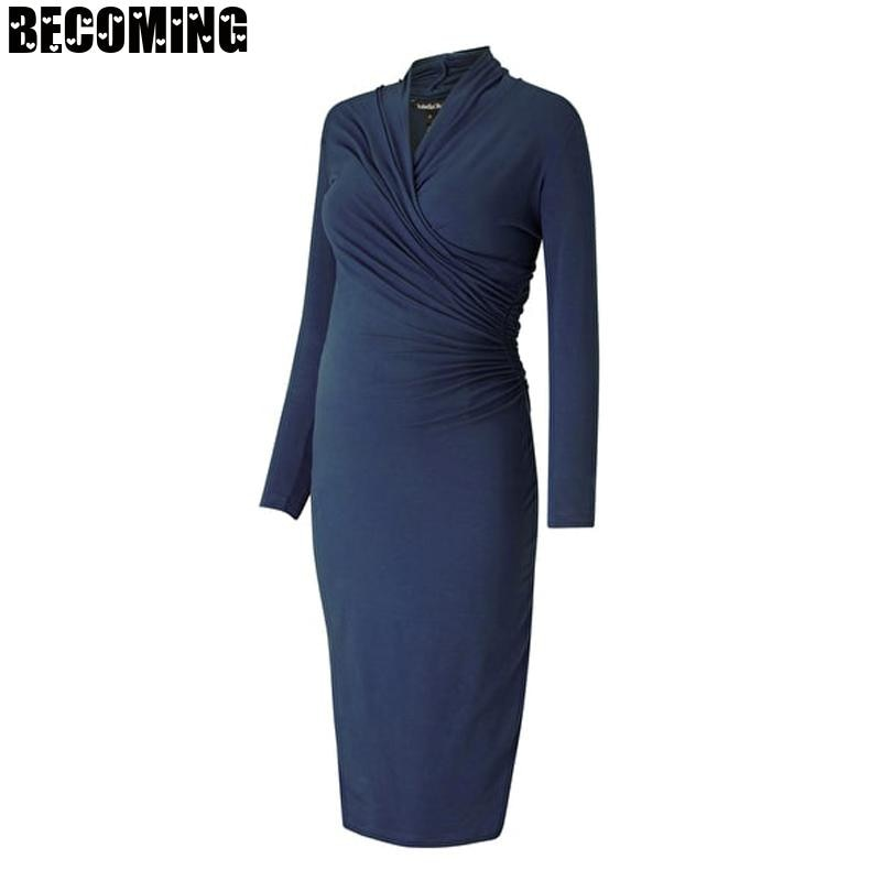 Plus Size Maternity Dresses Black Long Sleeve  Pregnancy Dress Nursing Clothes For Pregnant Women Breastfeed Clothes Dress Bc02 enlarge