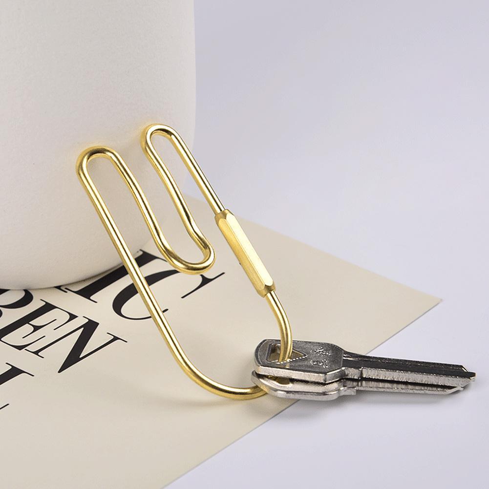 LLavero de lazo de latón para coche llave dorada organizador llavero decoración Loop Hoop llavero gancho de cinturón para hombre anillo