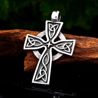 new trendy cross pendant necklace mens necklace fashion sliding metal cross necklace pendant accessories party jewelry
