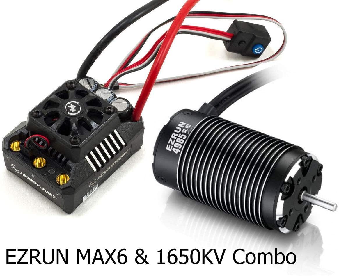 Hobbywing EzRun MAX6 V3 160A sin escobillas ESC y EzRun 4985 1650KV Motor Combo Set