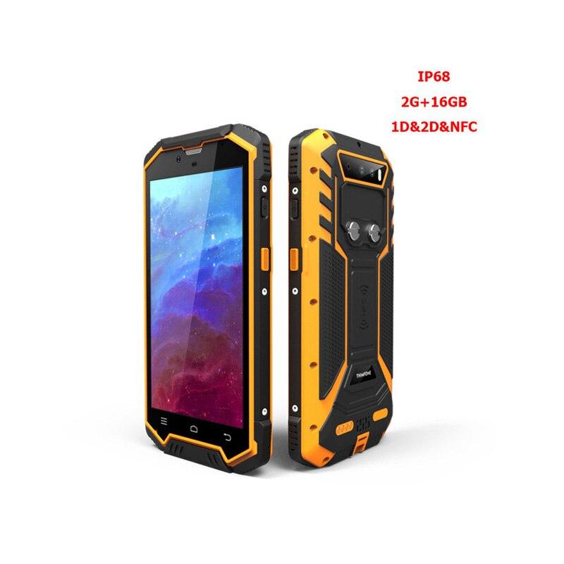 S2 Plus alta calidad de fábrica IP68 PDA Bluetooth Android Handheld 1D 2D código Qr escáner de código de barras NFC lector para logística