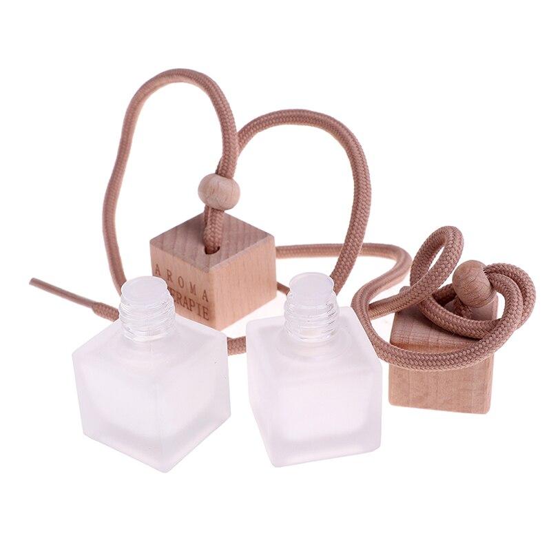1Pcs Matte Transparent Perfume Pendant Air Freshener Car Perfume Bottle for Essential Oils Auto Ornament Car Home Accessories