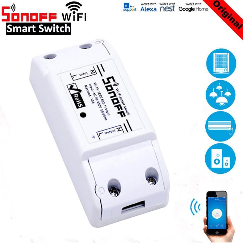 Sonoff ITEAD базовый Wifi таймер умный переключатель поддержка eWelink приложение беспроводная домашняя Автоматизация совместима с Google Home Alexa amazon