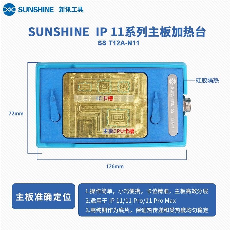 SS-T12A para IPHONE X plataforma de calentamiento en capas para placa base redonda X/XS/XSM/CPU/F mango de temperatura constante de reemplazo