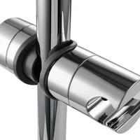 adjustable hand shower rail head bracket holder for slide bar slider clamp bathroom hot sale adjustable rail slider