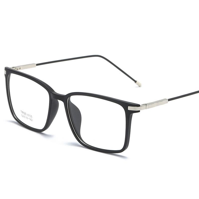 Square Glasses Frame Woman Men Glasses Retro Myopia Optical Frames Metal Clear lenses Black Gold   Eyeglasses Oculos 8105 fashion women men optical glasses frame round oversized eyeglasses frames metal spectacles clear lenses glasses