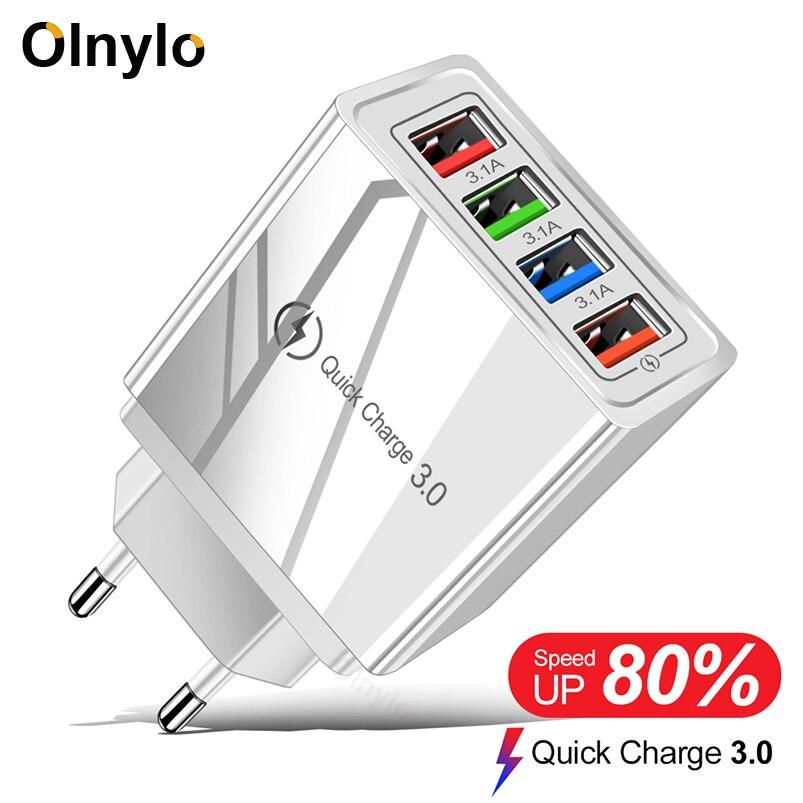 Cargador USB adaptador de carga rápida 3,0 para iPhone 11 Tablet portátil cargador móvil de pared carga rápida para Xiaomi Mi Note 10 Pro