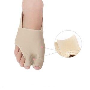 1Pair Toe Separator Hallux Valgus Bunion Corrector Orthotics Feet Bone Thumb Adjuster Correction Sock Straightener Brace Hot