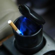 B-1 шт., автомобильная пепельница, контейнер для хранения мусора, пепельница для сигар, синий светодиодный светильник, Бездымная пепельница, ...