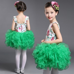 Children Pageant Formal Mini Cute Pink and White Ballerina Ball Gown Girls Green Dress Wedding Party Kids